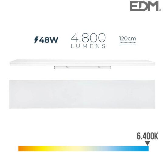 Regleta led 48w 120cm 6400k luz fria 4800 lm edm