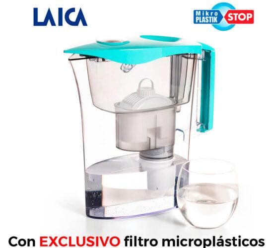 Jarra microplasticos + 3 filtros biflux + 1 filtro mikroplastik-stop ufsbe02 laica
